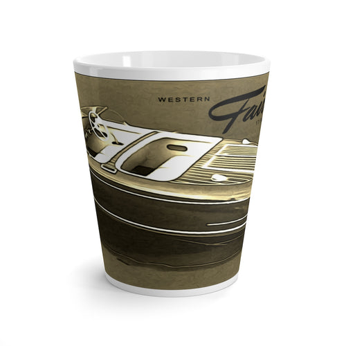 Western Fairliner Latte mug by Retro Boater