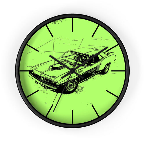 1971 Plymouth Cuda Wall clock by SpeedTiques
