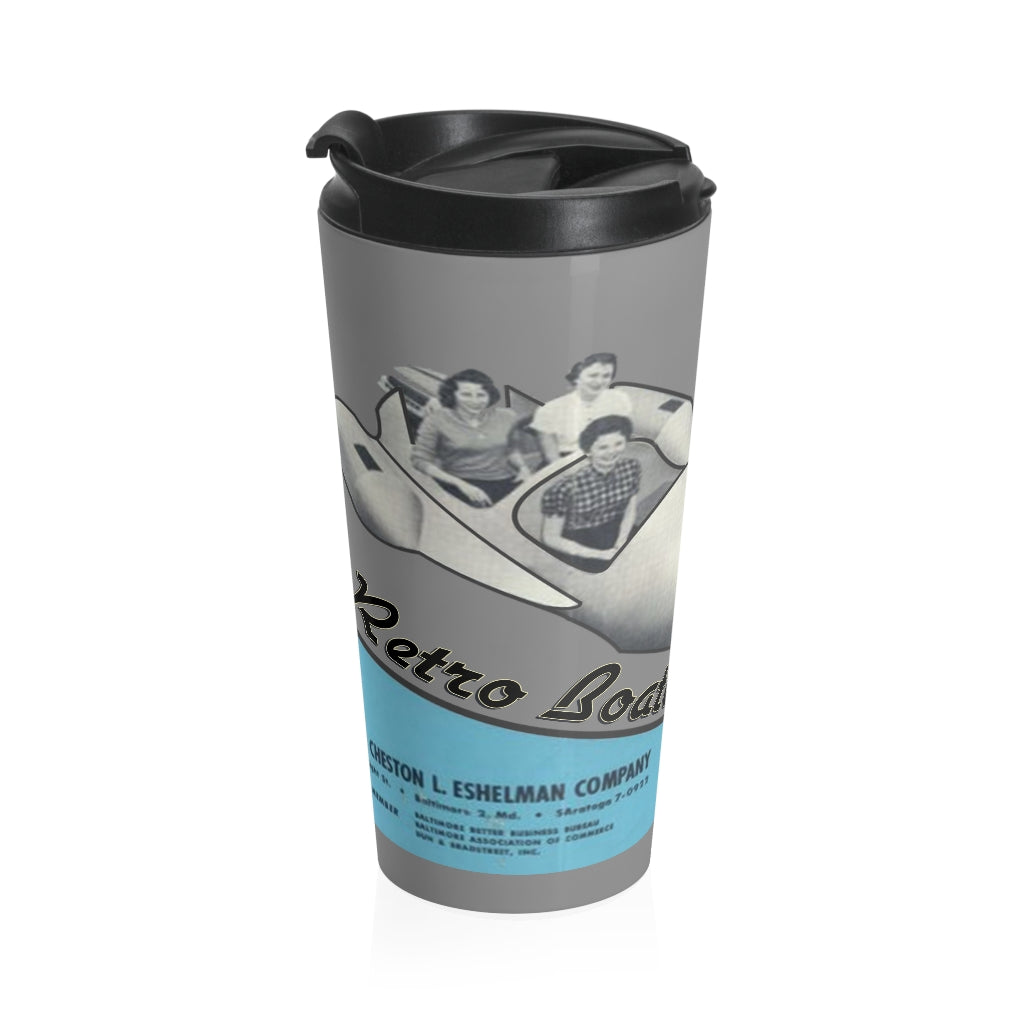 Eshelman Rocket Boat by Retro Boater Stainless Steel Travel Mug