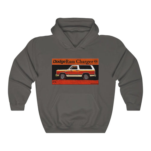 Vintage 1980s Dodge Ram Charger Unisex Heavy Blend™ Hooded Sweatshirt
