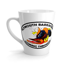 Plymouth Barracuda Coming Through Latte mug by SpeedTiques