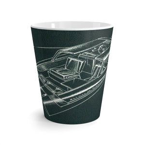 Evinrude Starflight Day Cruiser Latte mug by Retro Boater