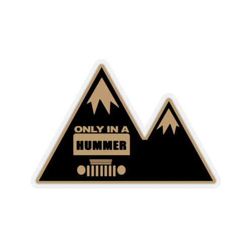 Mountain Design in Black Bronze Only in a Hummer Kiss-Cut Stickers