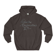 Woodies Restorations Logo line in white-College Hoodie