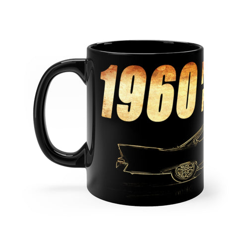 1960 Plymouth Fury Black mug 11oz by SpeedTiques