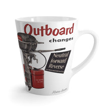 Vintage Johnson Sea Horse Outboard Latte mug by Retro Boater