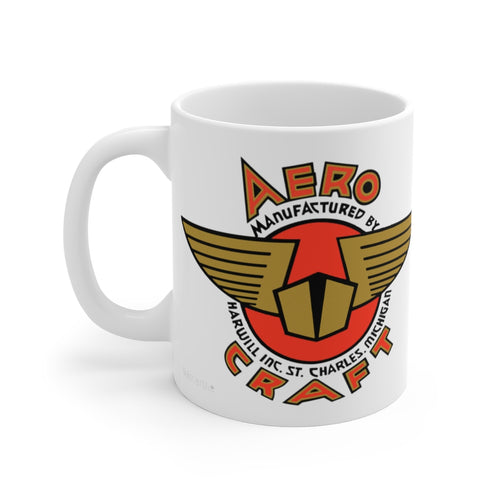 Aero Craft Boats White Ceramic Mug by Retro Boater