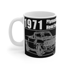 1971 Plymouth Hemi Cuda Convertible Mug 11oz by SpeedTiques