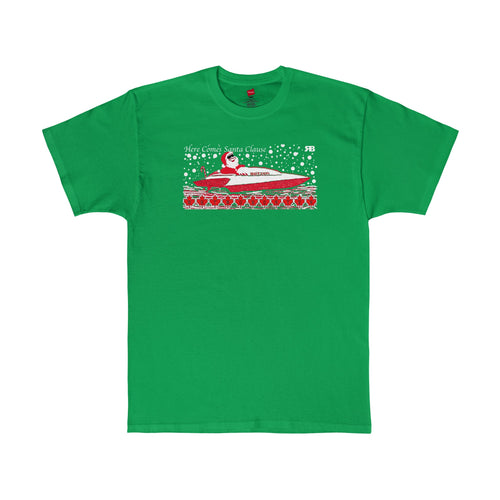 Here Comes Santa Claus in his Hydro Racer! T-shirt by Retro Boater