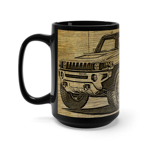 2009 Hummer H3T Alpha Black Mug 15oz by SpeedTiques