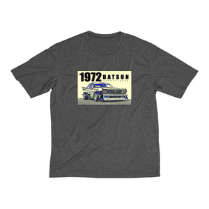 1972 Datsun Race Car Men's Heather Dri-Fit Tee By SpeedTiques