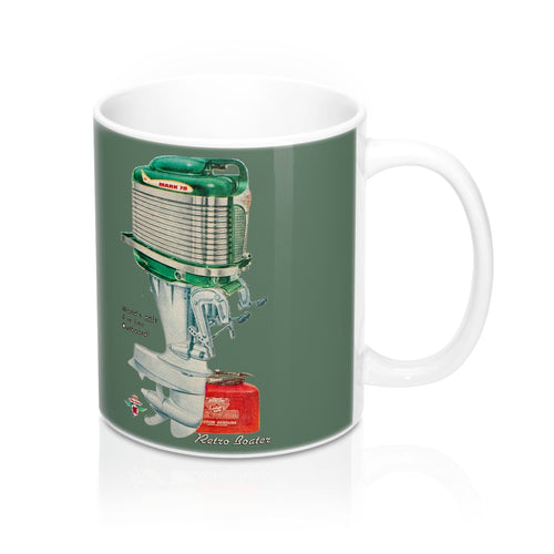 Mercury Kiekefier Outboard Engine 11oz Mug by Retro Boater