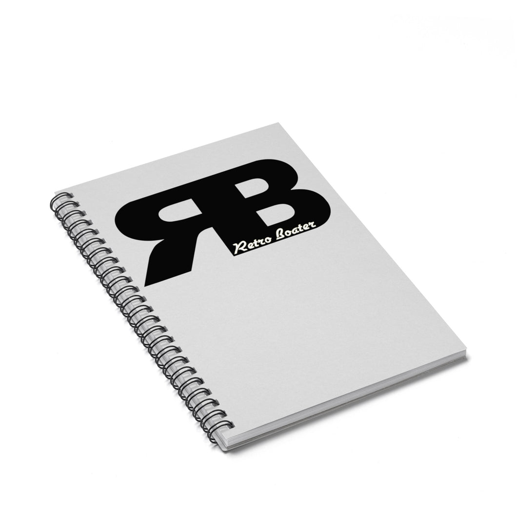 Retro Boater Logo Spiral Notebook - Ruled Line