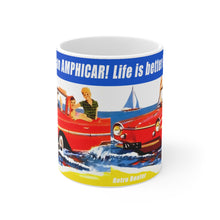 Life is better in an AMPHICAR! White Ceramic Mug by Retro Boater