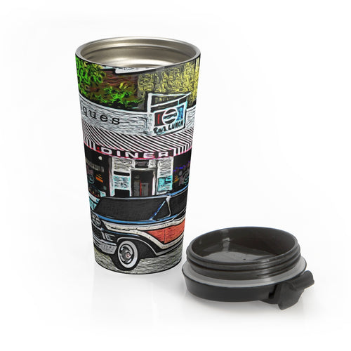 1958 Mercury Woody Station Wagon Stainless Steel Travel Mug by SpeedTiques