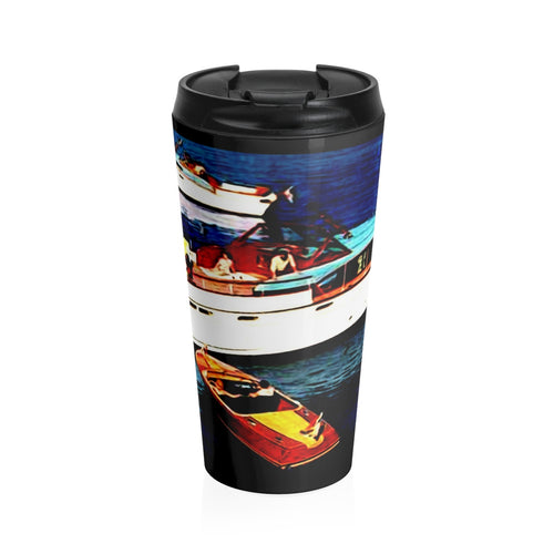 1957 Chris Craft Lineup Stainless Steel Travel Mug by Retro Boater