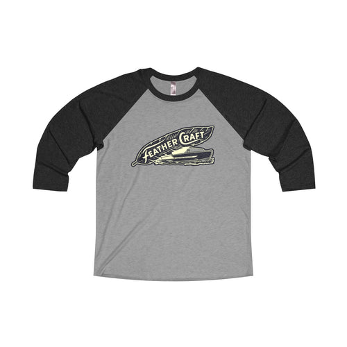 Feathercraft Unisex Tri-Blend 3/4 Raglan Tee by Retro Boater