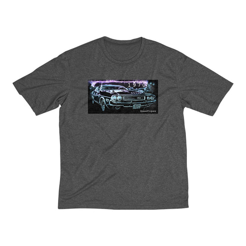 1070 Dodge Challenger Men's Heather Dri-Fit Tee By SpeedTiques