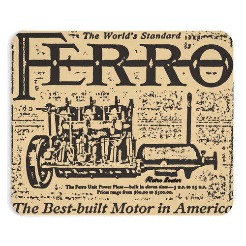 Ferro Engine Co. Mouse Pad by Retro Boater