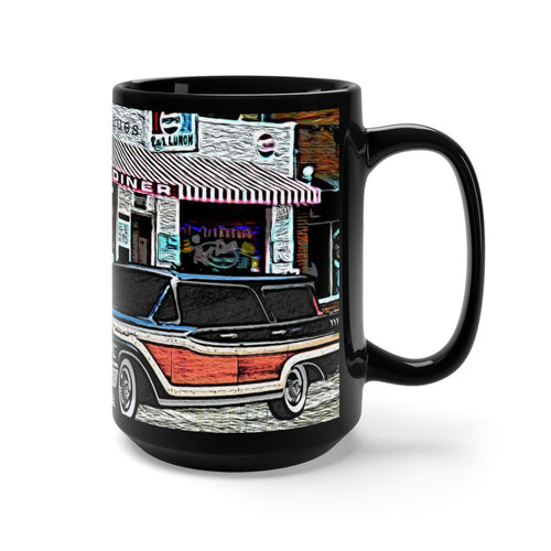 1959 Mercury Station Wagon Black Mug 15oz By SpeedTiques