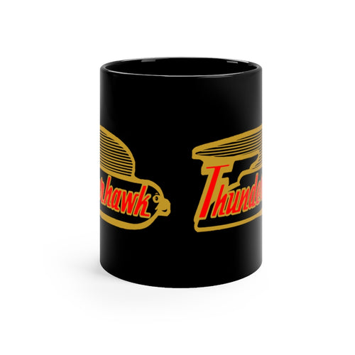 1959 Larson Thunderhawk Black mug 11oz by Retro Boater