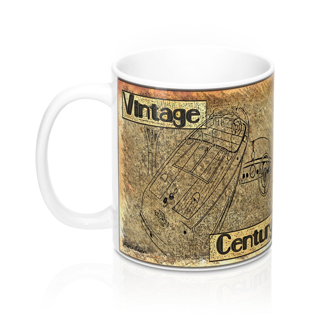 1950s Vintage Century Boats Mug 11oz by Retro Boater