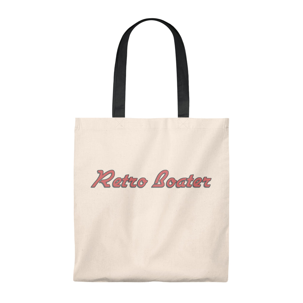 Retro Boater in Red/Grey Outline Tote