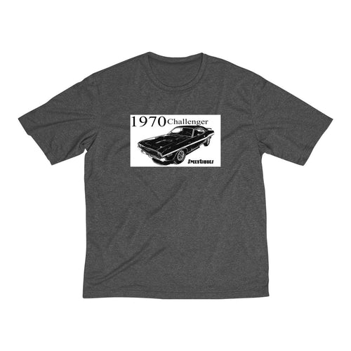 1970 Dodge Challenger Men's Heather Dri-Fit Tee by SpeedTiques