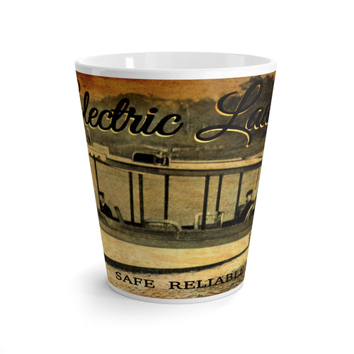 Electric Launch Co. Latte mug by Retro Boater