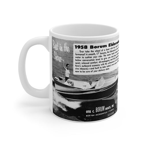 1958 Borum Eldorado Boats Mug 11oz by Retro Boater