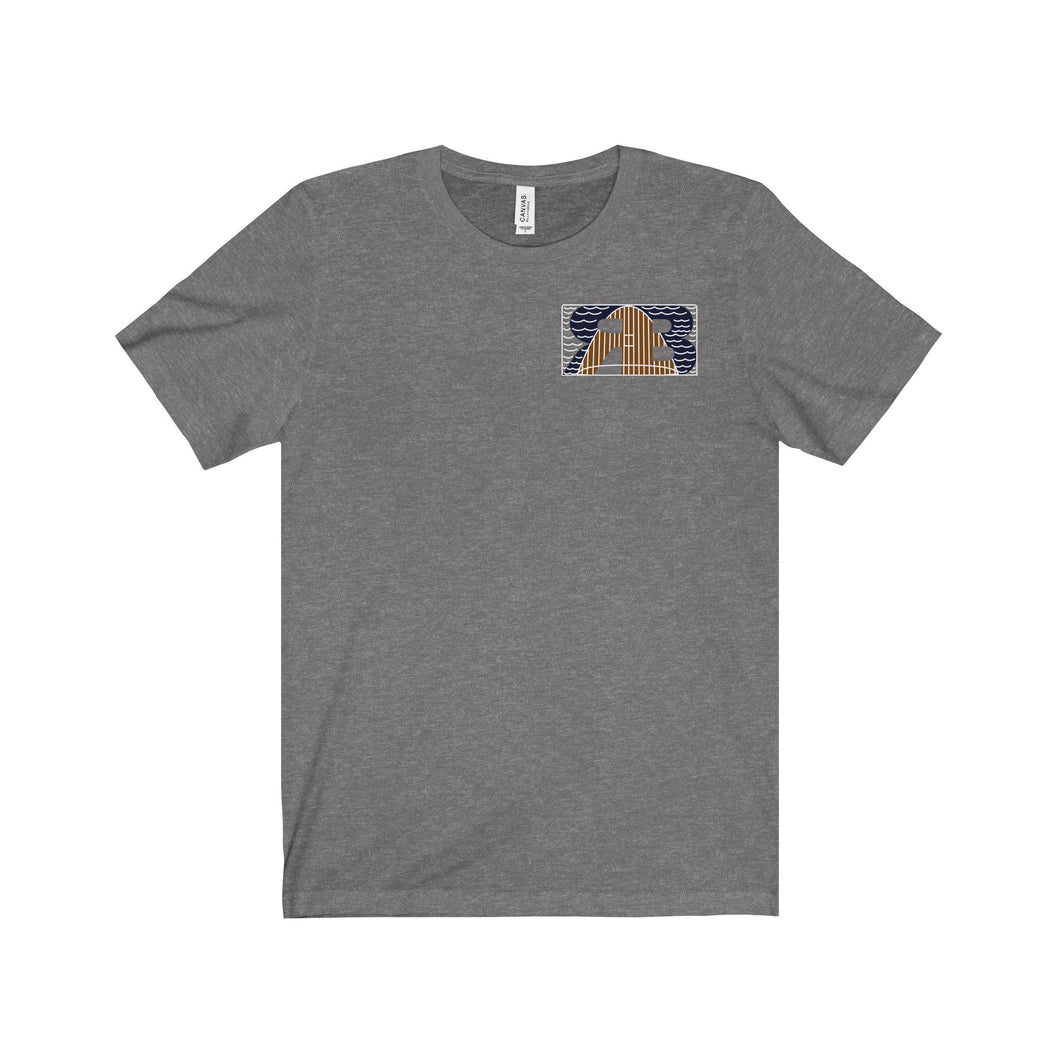 Retro Boater Logo with Back Graphic Unisex Jersey Short Sleeve Tee