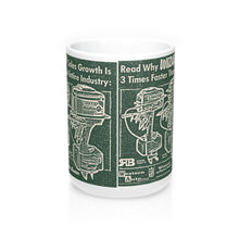 Wizard Outboard Engine Co. 15oz Mug by Retro Boater