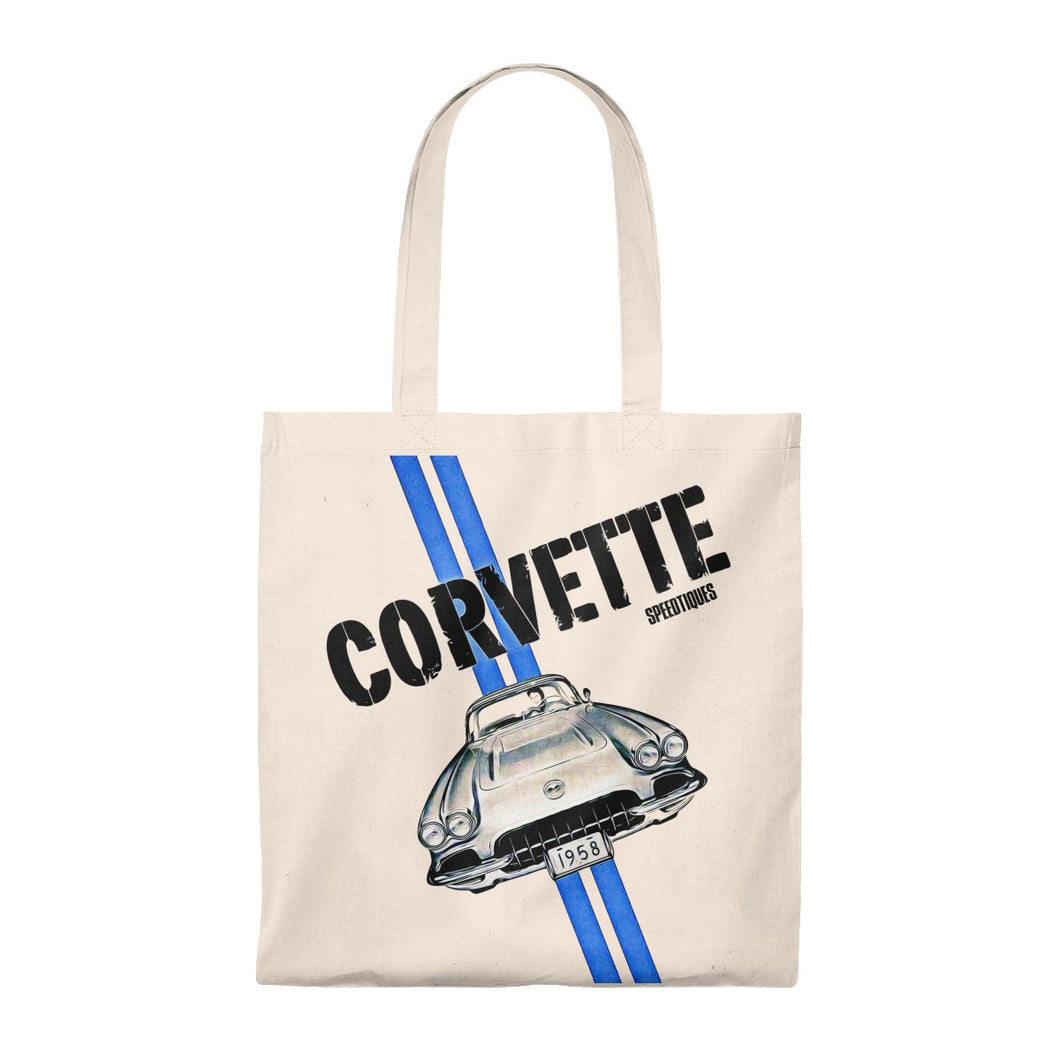 1958 Chevy Corvette Tote Bag - Vintage by SpeedTiques