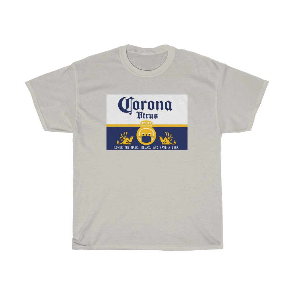 Corona COVID Beer Spoof Unisex Heavy Cotton Tee