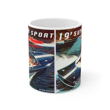 Vintage 19' Chris Craft Super Sport White Ceramic Mug by Retro Boater