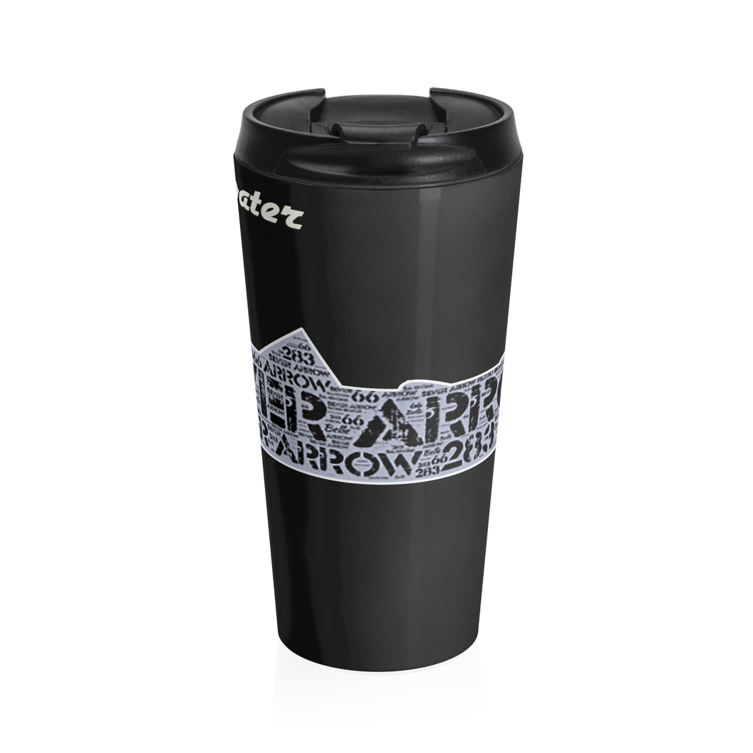 Silver Arrow Art Stainless Steel Travel Mug