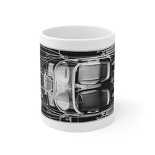 1963 Chevy Corvette Mechanical layout White Ceramic Mug by SpeedTiques