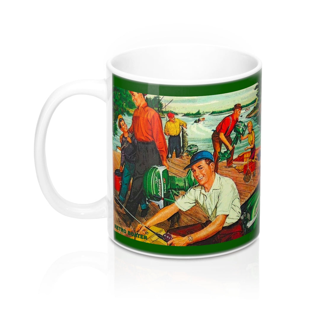 Vintage Johnson Outboard Mugs by Retro Boater