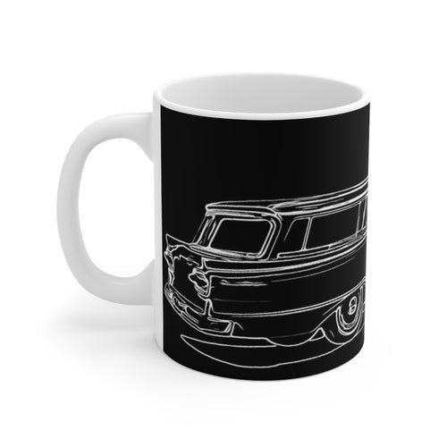 1958 Ford Ranch Wagon White Ceramic Mug by SpeedTiques