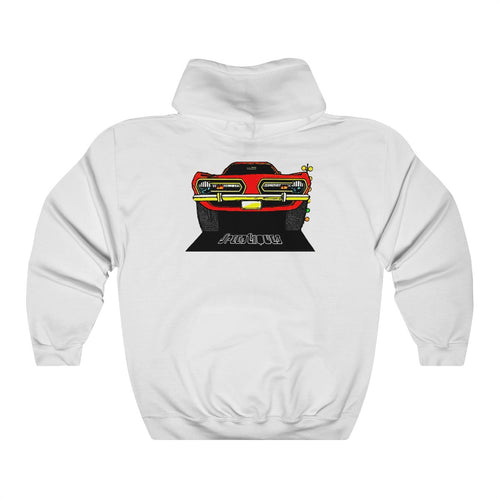 1968 Plymouth Barracuda Unisex Heavy Blend™ Hooded Sweatshirt by SpeedTiques