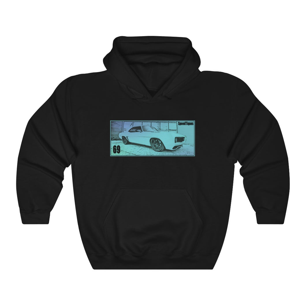 1969 Chevy Camaro Pro Touring Unisex Heavy Blend™ Hooded Sweatshirt by SpeedTiques