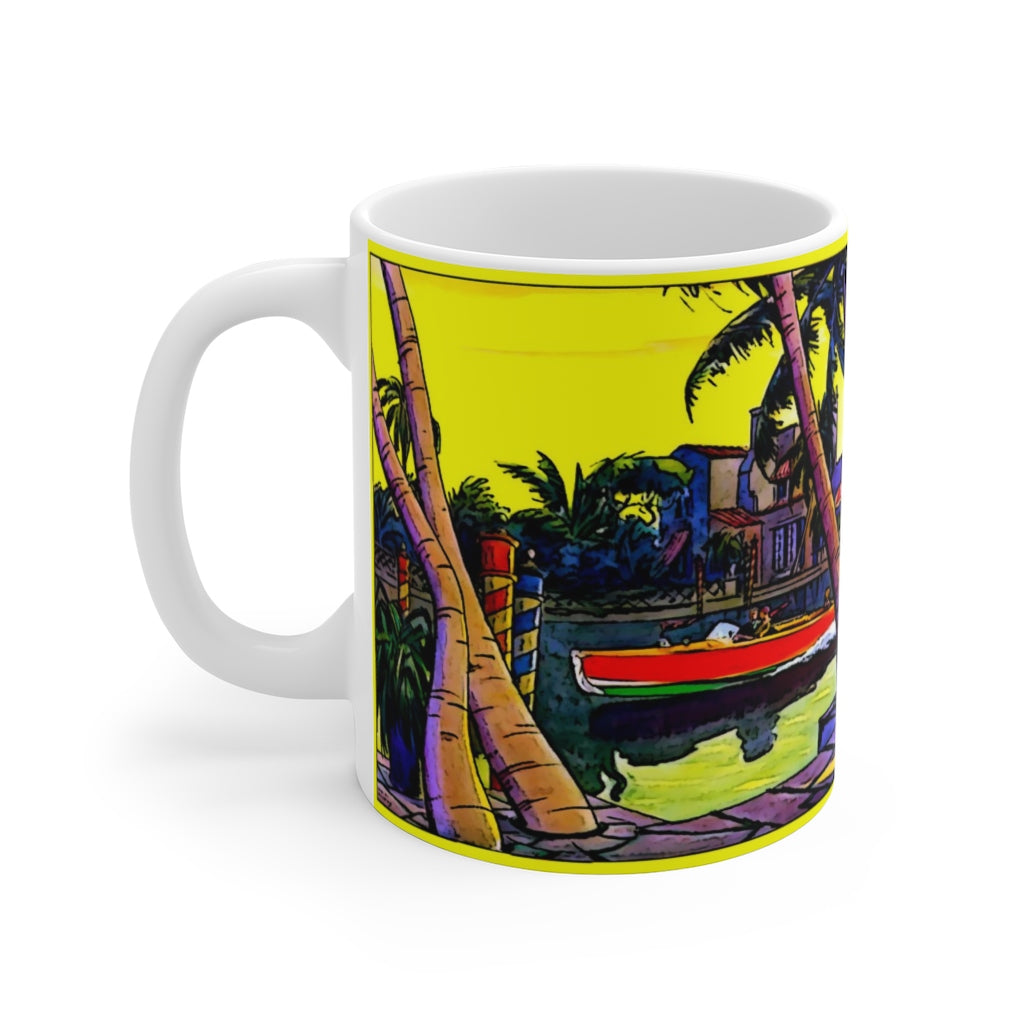 Vintage Dodge Runabout White Ceramic Mug by Retro Boater