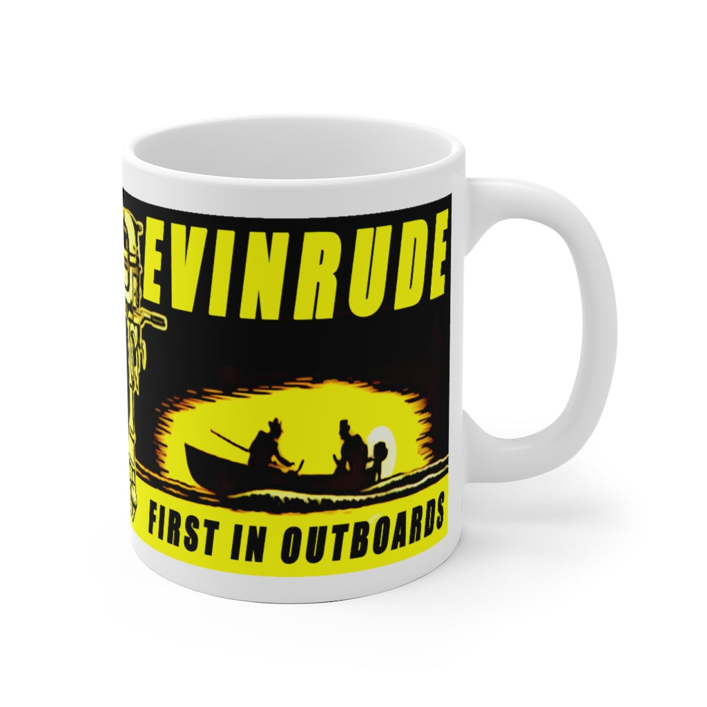 Vintage Evinrude White Ceramic Mug by Retro Boater