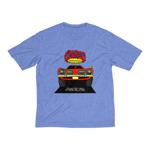 1968 Plymouth Barracuda Men's Heather Dri-Fit Tee by SpeedTiques