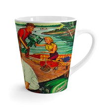 Vintage Johnson Outboard Latte mug by Retro Boater