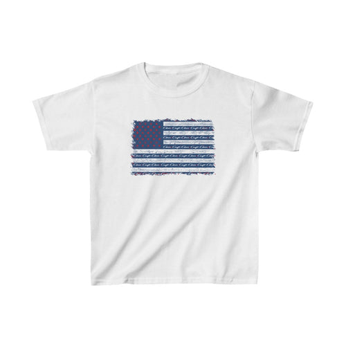 Distressed Chris Craft American Flag Kids Heavy Cotton™ Tee