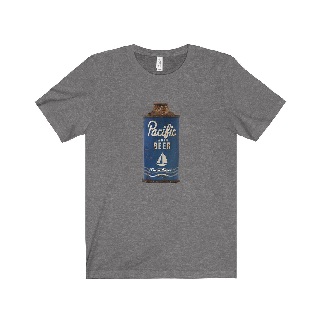 Pacific Navy Beer by Retro Boater Unisex Jersey Short Sleeve Tee