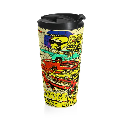 Dodge Boys Vintage Scat Pack Stainless Steel Travel Mug by SpeedTiques