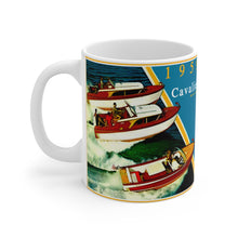 1959 Chris Craft Cavalier Line-Up White Ceramic Mug