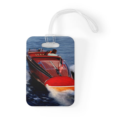 1939 Chris Craft Barrelback Bag Tag by Retro Boater